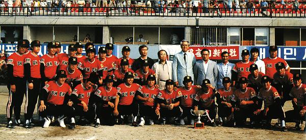 1983년 전기리그 우승 당시 해태 타이거즈 1983년 전기리그 우승 당시 해태 타이거즈